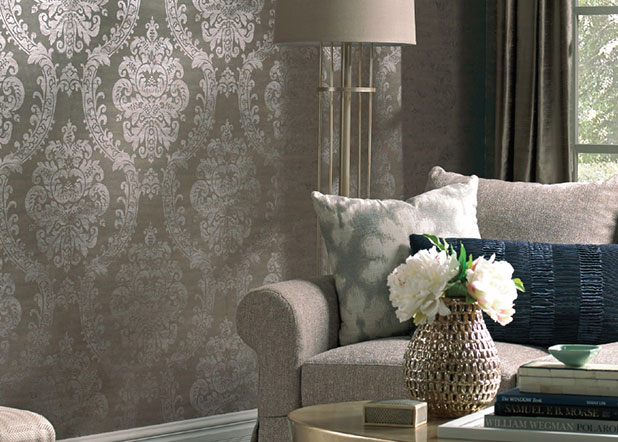 Designer damasks warde for Bedroom wallpaper sale