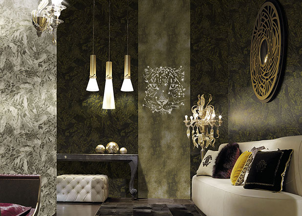 Roberto cavalli home 2 warde for Home wallpaper collection